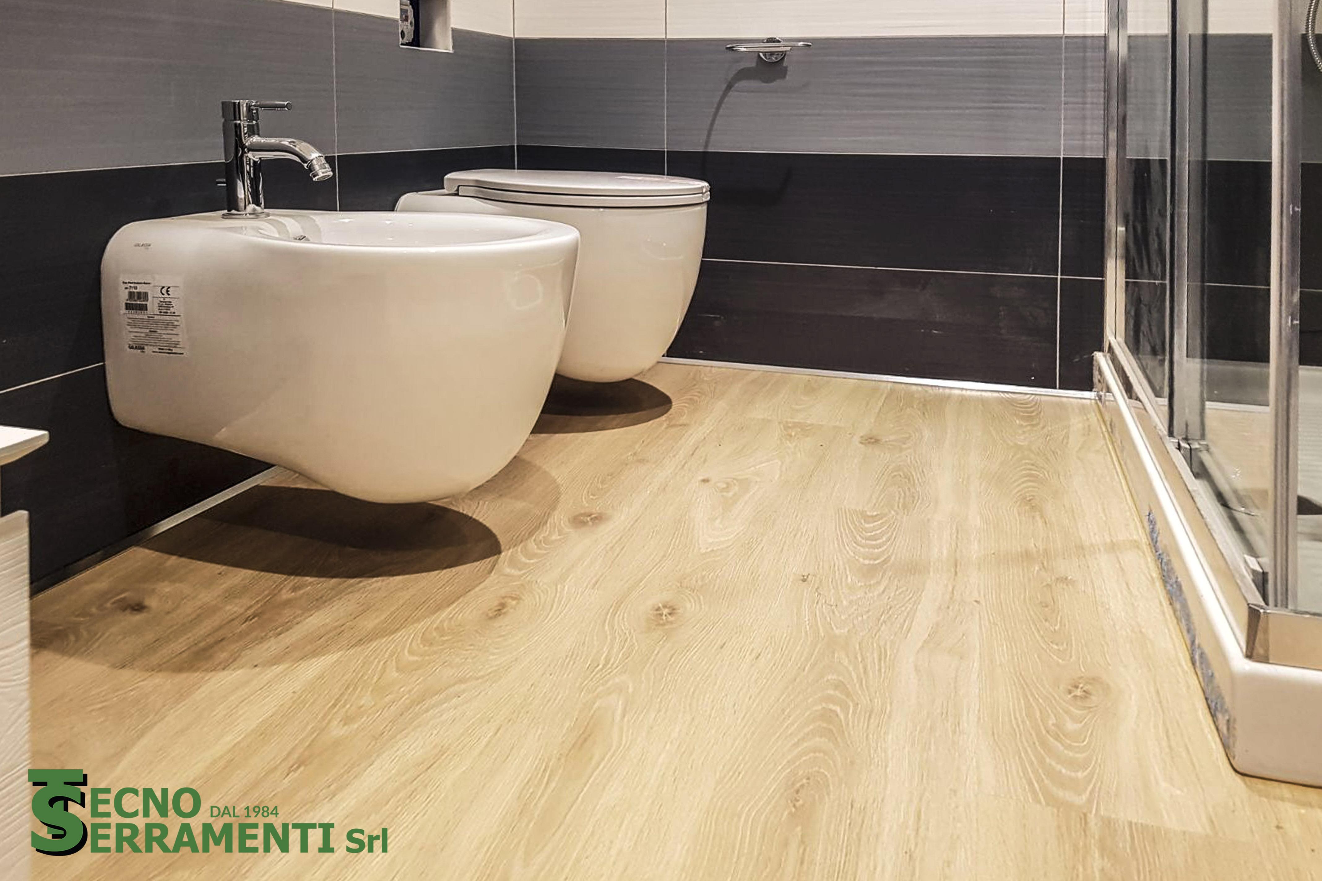 Pavimentazione in laminato per bagno